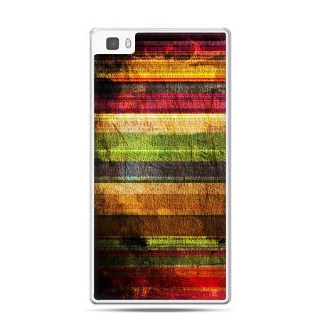 Huawei P8 Lite etui kolorowe deski
