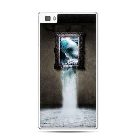 Huawei P8 Lite etui obraz wodospad