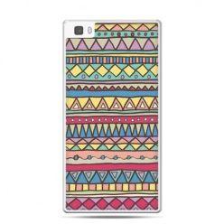 Huawei P8 Lite etui Azteckie wzory