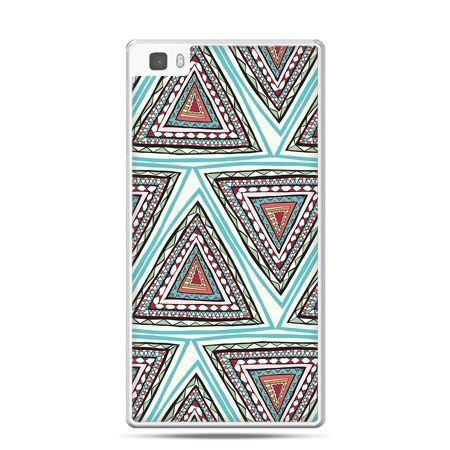 Huawei P8 Lite etui Azteckie trójkąty