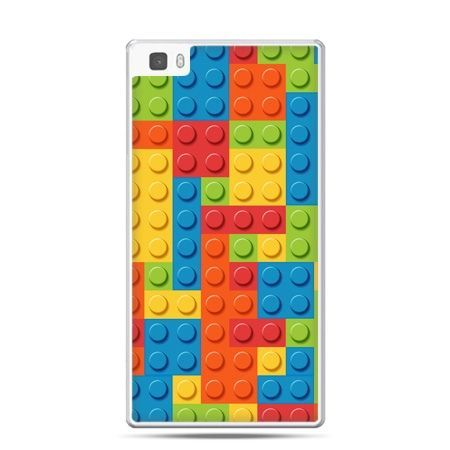 Huawei P8 Lite etui kolorowe klocki