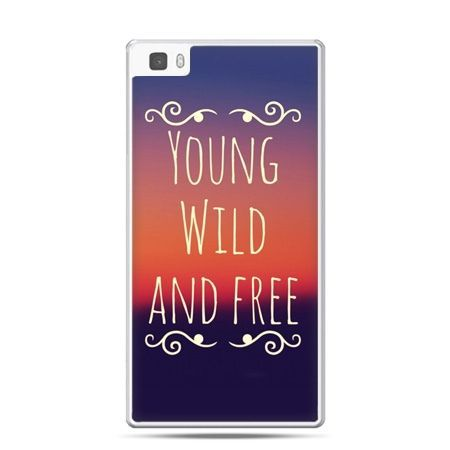 Huawei P8 Lite etui Young wild and free