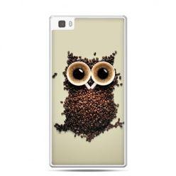 Huawei P8 Lite etui Kawa sowa