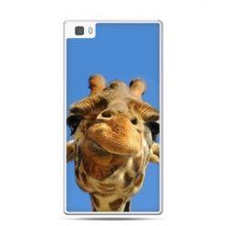 Huawei P8 Lite etui zabawna żyrafa