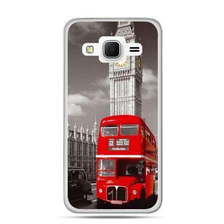 Galaxy Grand Prime etui czerwony autobus londyn
