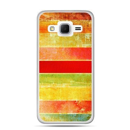 Galaxy Grand Prime etui kolorowe pasy