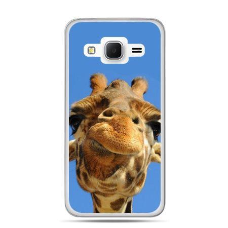Galaxy Grand Prime etui zabawna żyrafa