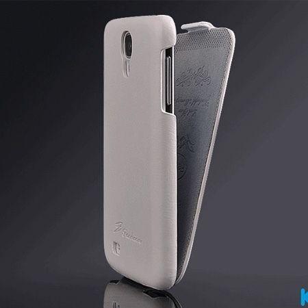 Samsung Galaxy S4 etui skórzane z klapką - biały