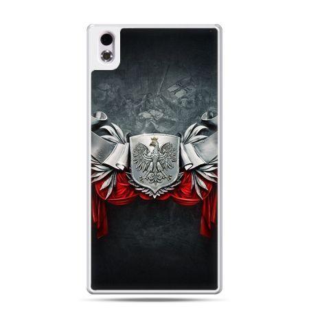 Etui ntelefon HTC Desire 816 patriotyczne - stalowe godło