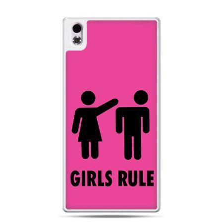 HTC Desire 816 etui różowe Girls Rule
