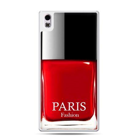 HTC Desire 816 etui lakier do paznokci czerwony