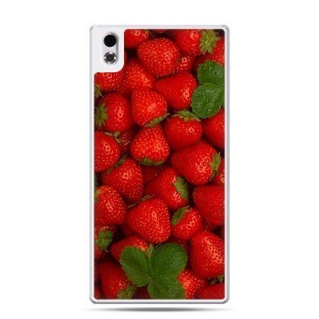 HTC Desire 816 etui czerwone truskawki