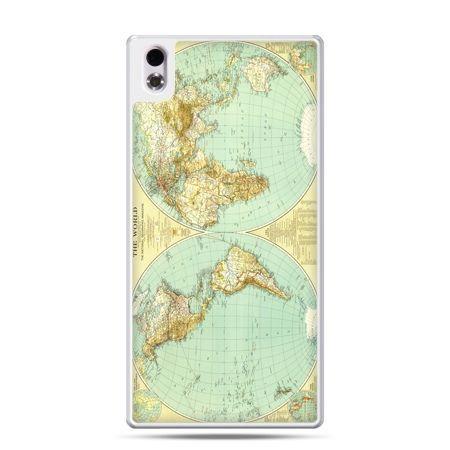 HTC Desire 816 etui mapa świata