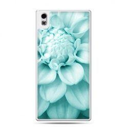 HTC Desire 816 etui niebieski kwiat dalii