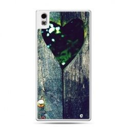 HTC Desire 816 etui drewniane serce