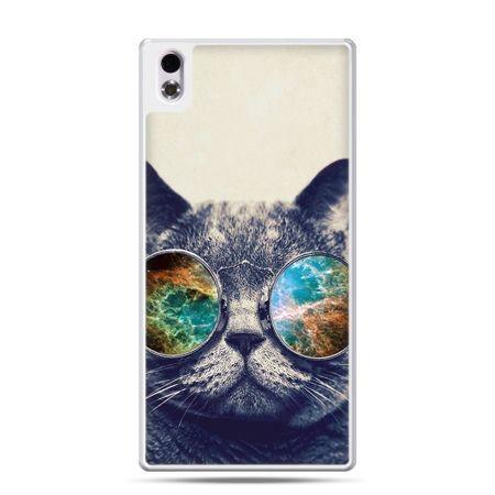 HTC Desire 816 etui kot w tęczowych okularach