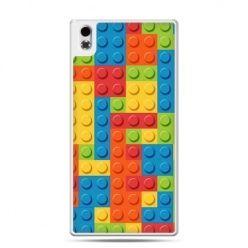 HTC Desire 816 etui kolorowe klocki