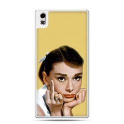 HTC Desire 816 etui Audrey Hepburn Fuck You