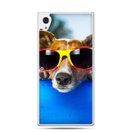 Etui Xperia Z4 pies w kolorowych okularach