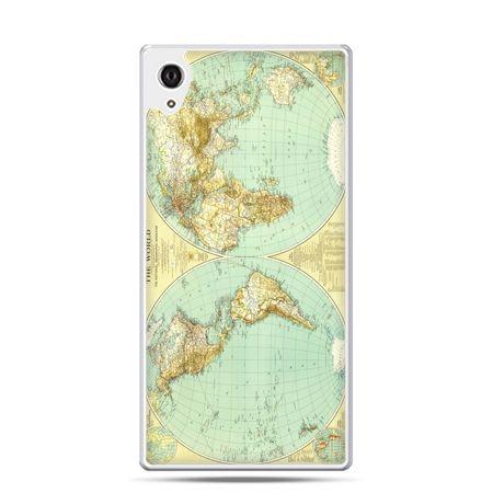 Etui Xperia Z4 mapa świata