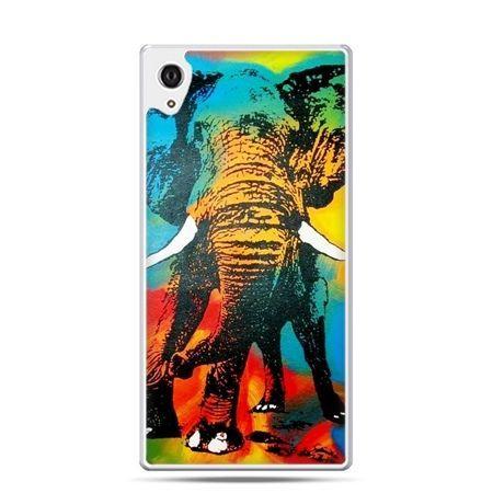Etui Xperia Z4 kolorowy słoń