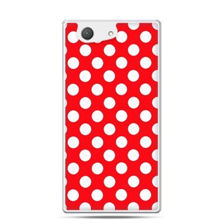 Xperia Z4 compact etui czerwona polka dot