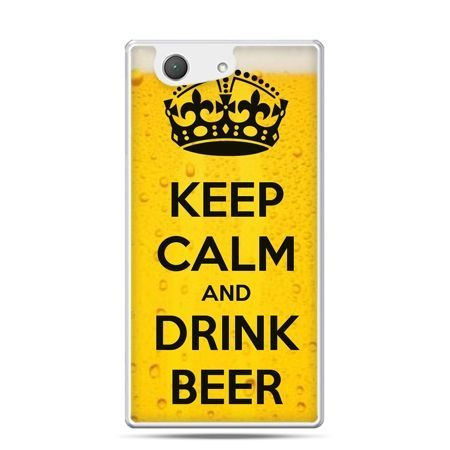 Xperia Z4 compact etui Keep calm and drink beer