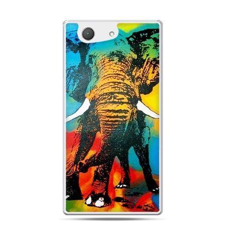 Xperia Z4 compact etui kolorowy słoń
