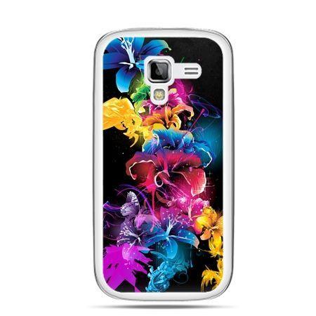 Galaxy Ace 2 etui kolorowe kwiaty