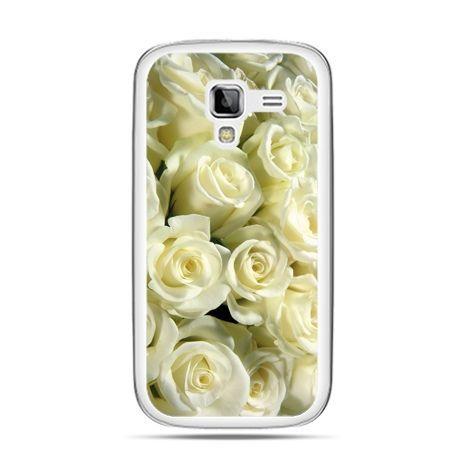 Galaxy Ace 2 etui białe róże