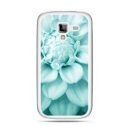 Galaxy Ace 2 etui niebieski kwiat dalii
