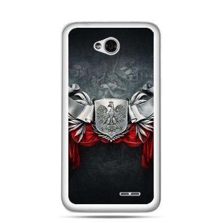 Etui na telefon LG L70 patriotyczne - stalowe godło