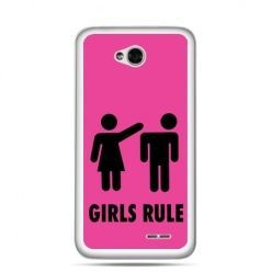 Etui na LG L70 różowe Girls Rule