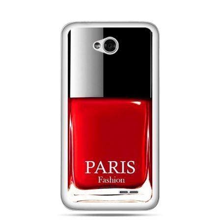 Etui na LG L70 lakier do paznokci czerwony