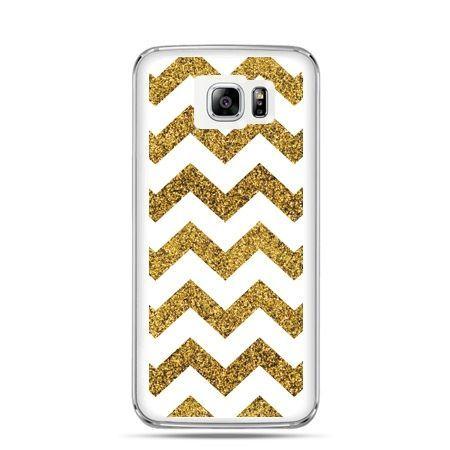Galaxy Note 5 etui złoty zig zag