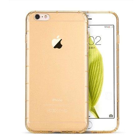 iPhone 6 Plus  Air-shock przezroczyste etui silikonowe - złoty. PROMOCJA!!!