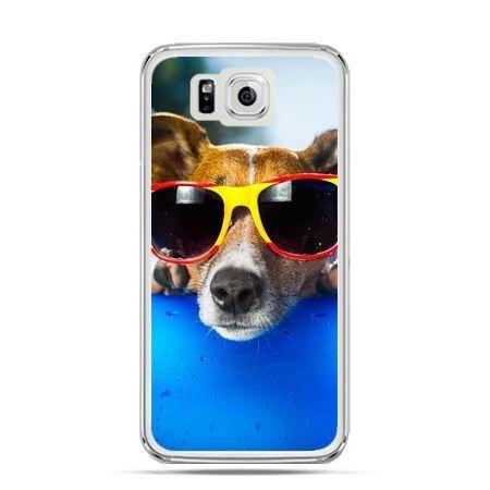 Galaxy Alpha etui pies w kolorowych okularach