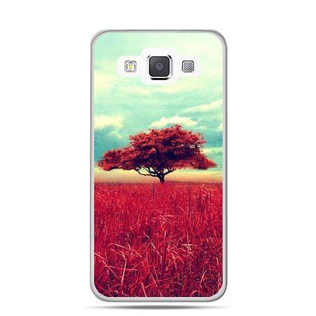 Galaxy J1 etui czerwone drzewo