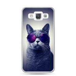 Galaxy J1 etui kot hipster w okularach