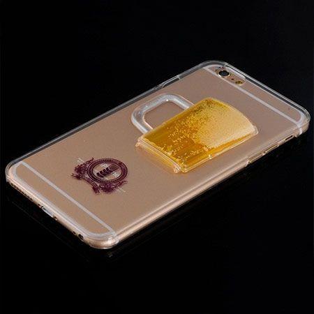iPhone 6, 6s etui z ruchomym płynem w środku piwo.