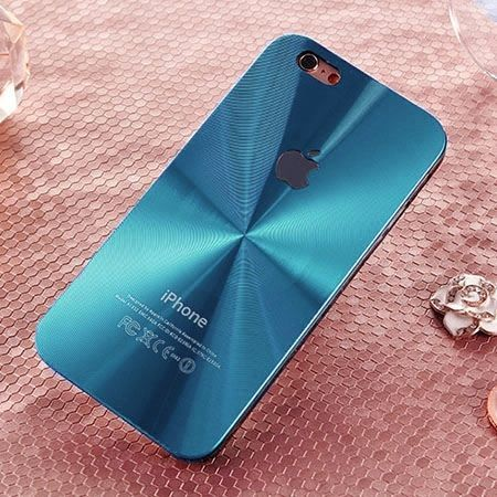 iPhone 6 / 6s niebieskie plecki aluminiowe efekt cd