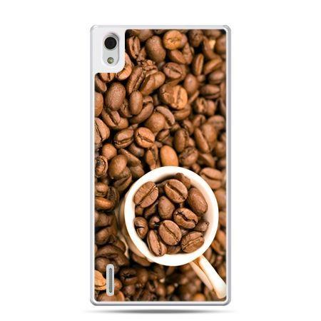Huawei P7 etui kubek z kawą