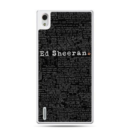 Huawei P7 etui ED Sheeran czarne poziome