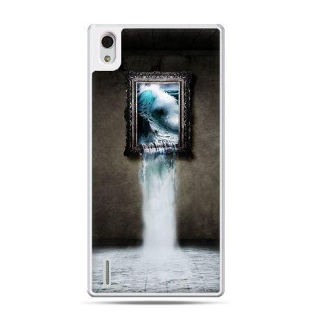 Huawei P7 etui obraz wodospad