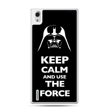 Huawei P7 etui Keep calm and use the force