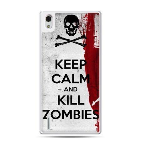 Huawei P7 etui Keep Calm and Kill Zombies
