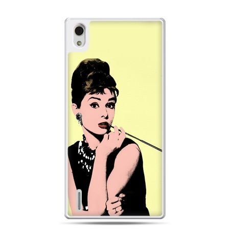 Huawei P7 etui Audrey Hepburn z papierosem