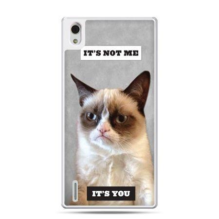 Huawei P7 etui grumpy kot zrzęda