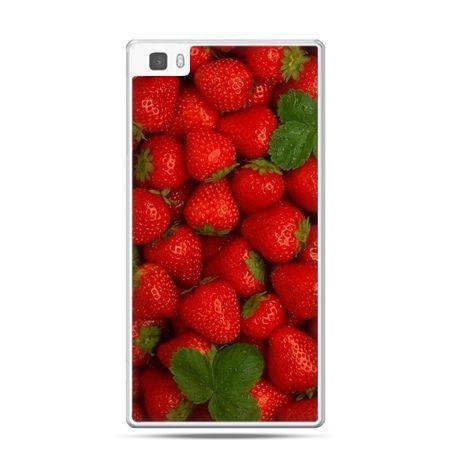 Huawei P8 etui czerwone truskawki