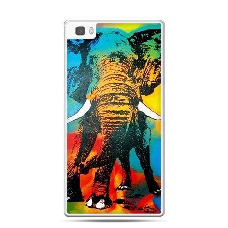 Huawei P8 etui kolorowy słoń